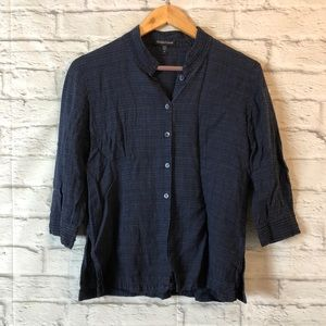 EILEEN FISHER Linen Button Down Shirt Top 3/4